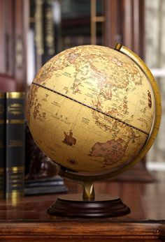Home Decor Antique English world Globo Teaching Vintage Home Office  #EnglishGlobe