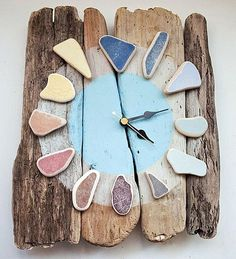 Totally Inspired by this beautifully crafted piece by coastalhome.co.uk  #clock…