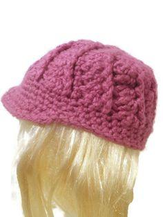 chunky crochet newsboy cap swirly newsboy hat you by CrochetByMel