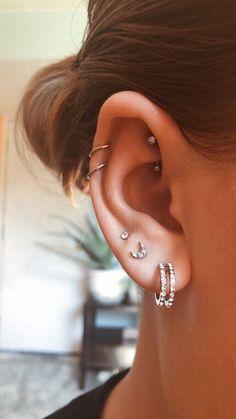 No Piercing Cartilage Ear Cuff Snake/piercing imitation/fake faux piercing/ear jacket manchette/ohrklemme ohrclip/conch cuff/false pierce - Custom Jewelry Ideas Helix Piercings, Piercing Eyebrow, Ear Peircings, Double Cartilage Piercing, Cute Ear Piercings, Cartilage Earrings, Piercing Tattoo, Septum, Stud Earrings