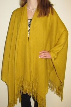 Mustard for spring loving the trendy look! Coupon code yes10 on checkout for extra savings and a gift. Prod #1555 http://www.yourselegantly.com/women-s-warm-ruana-wraps-in-many-colors.html
