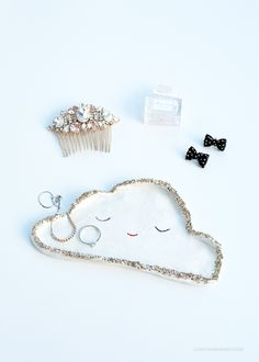 DIY Silver Lining Cloud Dish by Love From Ginger