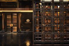 Manhattan Bar by Distillery- The Asia Hotel Design Awards 2015 Bar Lounge, Hotel Lobby, Cafe Restaurant, Restaurant Design, Restaurant Concept, Screen Design, Wall Design, Bar Interior, Interior Decorating