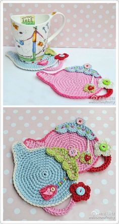 Pin by Danielle Owens on Let& Crochet :) Crochet Home, Love Crochet, Crochet Motif, Crochet Crafts, Crochet Doilies, Crochet Projects, Knit Crochet, Crochet Patterns, Knitting Stiches