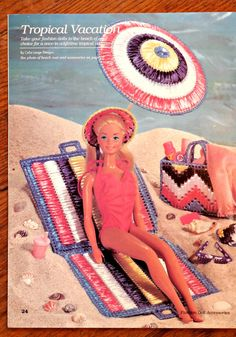 Plastic Canvas Fashion Doll Accessories Barbie doll by TangledTime