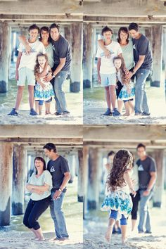 A beach portrait session under the jetty for this family of four in Melbourne's bayside.