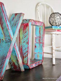 Wood Letters http://bec4-beyondthepicketfence.blogspot.com/2015/01/wood-block-xo.html
