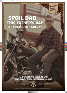 Magazine Ad for Harley Davidson Father's Day Campaign