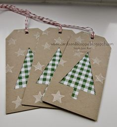 Festival of Trees by Stampin' Up! to make Tags and a Banners! Noel Christmas, Handmade Christmas, Stampin Up Weihnachten, Handmade Gift Tags, Christmas Gift Wrapping, Card Tags, Christmas Printables, Christmas Crafts, Banners