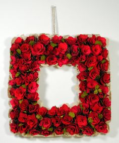 $30Look what I found on #zulily! Red Rose Square Wreath by GCA International #zulilyfinds