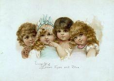 Frances Brundage (1854–1937)  Brown Eyes and Blue....