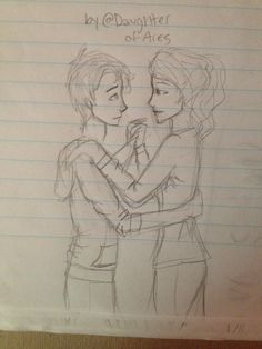 Percabeth from the beginning of the titans curse @BooksAndMusic12