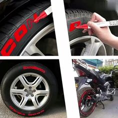 Waterproof Car Tyre Tire Tread Permanent Paintbrush - Stamp Tutorial and Ideas Paint Marker Pen, Paint Pens, Plastic Bottle Cutter, Vw T3 Doka, Car Supplies, Tire Tread, Car Colors, Car Set, Car Cleaning