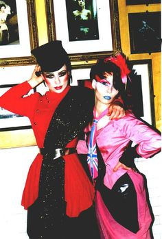 Marla Belt + Katya Casio at MOTHER (NYC) New Romantic night; HEROES