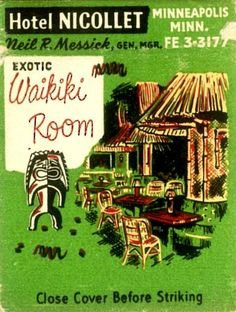 Critiki is a guide to over tiki bars, Polynesian restaurants and other sites of interest to the midcentury Polynesian Pop enthusiast. Part historic archive, part travel guide, and all tiki. Vintage Tiki, Vintage Hawaii, Vintage Travel, Vintage Ads, Vintage Posters, Minneapolis, Tiki Art, Tiki Tiki, Tiki Bar Decor