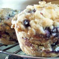 Glazed Blueberry Crunch Muffins