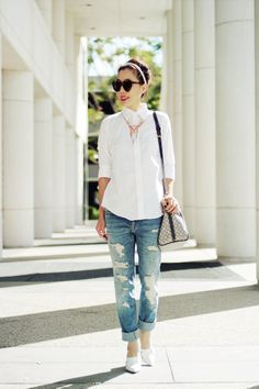 White shirt via Hallie Daily