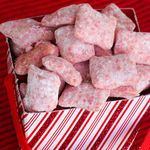 Candy Cane Peppermint Puppy Chow | Daily Dish Recipes