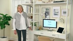 Maximize productivity by keeping your home office well-organized. Label your cables and keep your desk looking as good on the inside as it does on the outside. That's how Martha Stewart does it ;