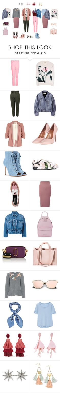"""Albina"" by laravolodina on Polyvore featuring Topshop, Burberry, Acne Studios, River Island, Gianvito Rossi, Dolce&Gabbana, Robert Clergerie, Miss Selfridge, Givenchy и Marc Jacobs"