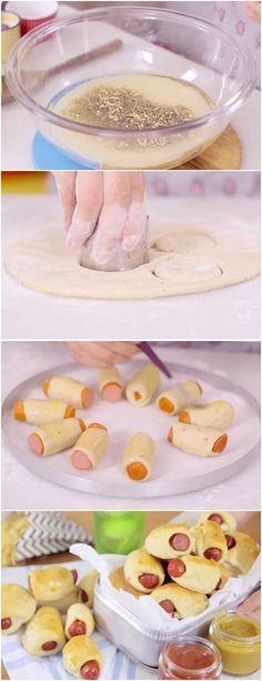 Perfeito para o lanchinho das crianças! #enroladinho #lanche #facil #rapido #receita #gastronomia #culinaria #comida #delicia #receitafacil