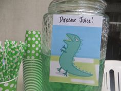Zigi's Peppa Pig Party - Dinosaur Juice