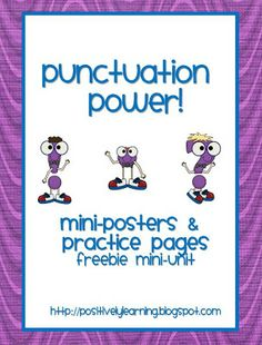 Classroom Freebies: Punctuation Power!
