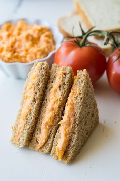 This Tomato Twiddle recipe is perfect as a tea party sandwich. Easy to make, only 3 ingredients, and so flavorful! Get ready to meet your new favorite sandwich! Tea Party Sandwiches Recipes, Finger Sandwiches, Tea Party Recipes, Afternoon Tea Recipes, Afternoon Tea Parties, Antipasto, Vegan Teas, Sammy, High Tea