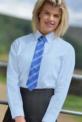 David Luke School-Uniform Boys Standard Collar Long Sleeve Formal School Shirt Pack of 6