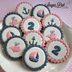 Sugar Dot Cookies: Nautical Birthday Sugar Cookies