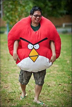 Angry Birds-um no I won't wear this to the party!