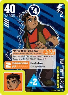 Nicktoons Nfl Rush Zone Games : nicktoons, games, Guardians, Ideas, Trading, Cards, Game,, Nicktoons,