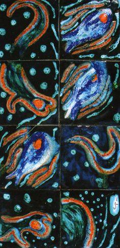 Füreya Koral, board, ceramic, 54x107 cm, 1961 (Erdinç Bakla archive) Ceramic Artists, Scandinavian, Archive, Clay, Pottery, Board, Painting, Clays, Ceramica