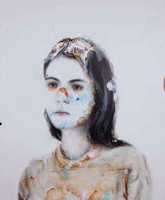 PARACHUTE, acrylic & oil on canvas.