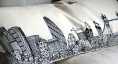 London skyline on a cushion = LOVE