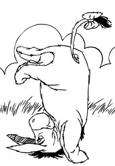 happy valentines day coloring page Winnie The Pooh