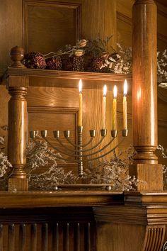 Our Hanukkah Menorah Lights up the Winter Lounge