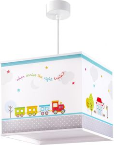 Suspension Enfant The night train DALBER -Suspension -Collection : The night train -Type d'Source Lumineuse: X Max -Source Lumineuse Incluse: no -Dimensions: 22 x 24 cm -Norme CE Kids Lamps, Night Train, Red Green, Blue, Main Colors, Decoration, Save Energy, Led Lamp, Kids Bedroom