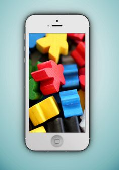 Pile of Meeples digital background for iPhone 6. Part of the Carcassonne digital wallpaper collection.