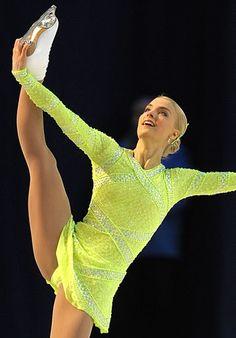 Kiira Korpi -Yellow Figure Skating / Ice Skating dress inspiration for Sk8 Gr8 Designs.