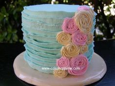 Love this tea party cake!  Beautiful colors.