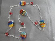 STUNNING Colorful Handmade Lampwork Bead by CustomCraftJewelry