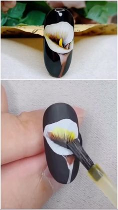 Fruit Nail Designs, Cute Summer Nail Designs, Flower Nail Designs, Nail Art Hacks, Nail Art Diy, Diy Nails, Nail Art Designs Videos, Nail Art Videos, Nail Swag