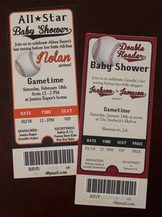 What's better than one adorable baseball baby shower?       TWO adorable baseball baby showers a nd THREE sweet little baby boys!        ...