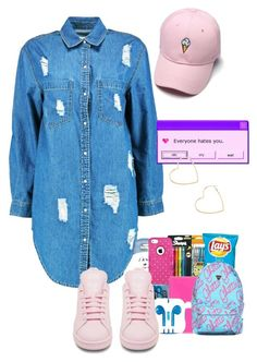 """"""""""" by a-kisses ❤ liked on Polyvore featuring Boohoo, adidas and Forever 21"""