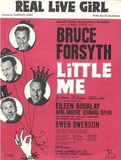 BRUCE FORSYTH - LITTLE ME - REAL LIVE GIRL - CY COLEMAN - 1962 WALZER MUSIKNOTE