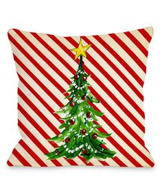 Another great find on #zulily! Christmas Tree Stripe Throw Pillow #zulilyfinds