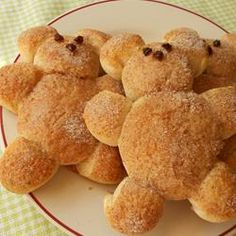 """Teddy Bear Biscuits - Another person stated, """"My 3 yr old son loved this! not only the eating it, but he loved making it too. We changed it slightly to make it a little more kid friendly."""" -wiom the bread, bear biscuit, teddi bear, breads, blenders, teddy bears picnic, son, biscuits, biscuit kid"""
