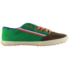 fantastische El ganso tigra canvas ribbon green heren sneakers (Bruin)