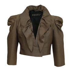 ca88849c Gold Bull Bolero Jacket ($130) ❤ liked on Polyvore featuring outerwear,  jackets, tops, blazers, giacche, gold jacket, blazer jacket, patterned  blazer, ...